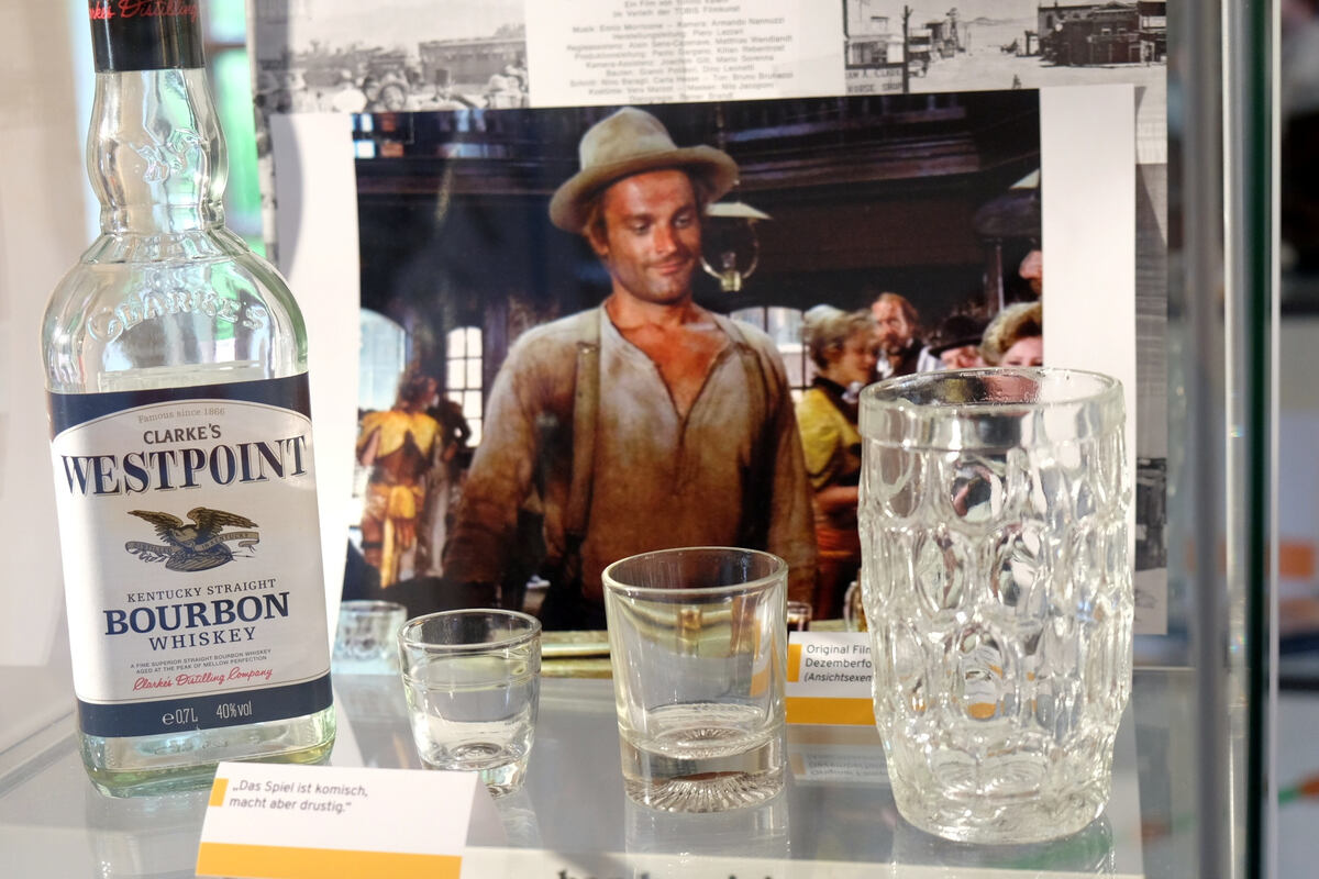 Blick ins Terence-Hill-Museums in Lommatzsch.