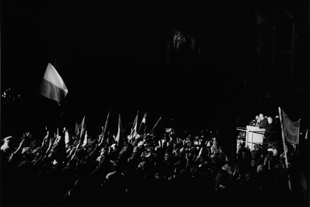 Bundeskanzler Kohl in Dresden, 19.12.1989.