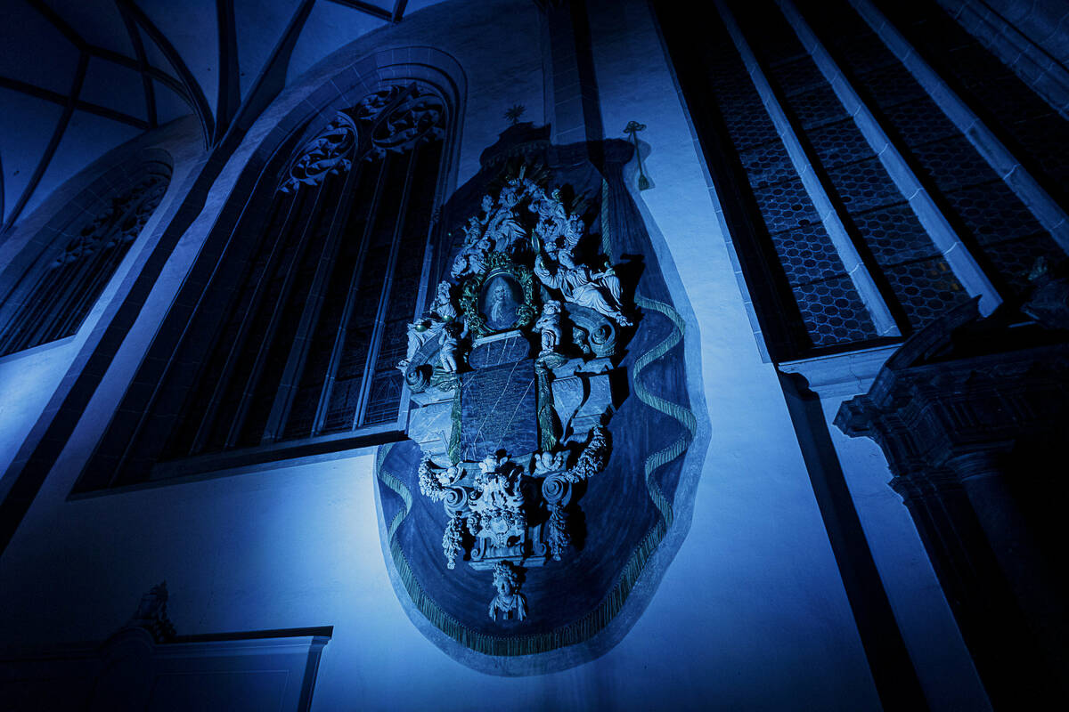 So geheimnisvoll wirkt die Görlitzer Sonnenorgel nur bei besonderer Beleuchtung. Ein besonderes Werk erklingt am 11. Juli um 18.30 Uhr.