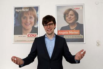 Er ist der Kandidat im Merkel-Wahlkreis