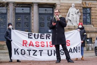 Kundgebung gegen Rassismus in Dresden