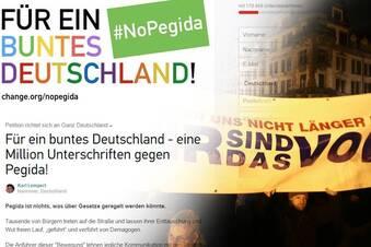 210000 Unterschriften gegen Pegida