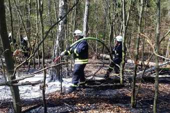 Großbrand in Hartha beschäftigt Polizei
