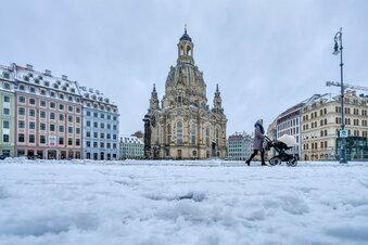 Eisige Temperaturen in ganz Sachsen