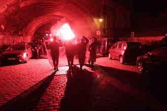 Nach Hausbesetzung: Randale-Demo in Dresden