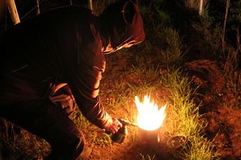 Feuer im Weinberg
