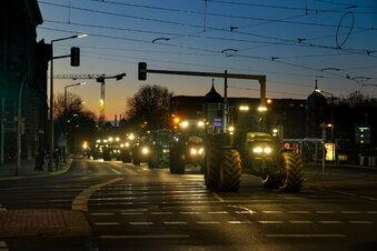So lief die Bauern-Demo in Dresden