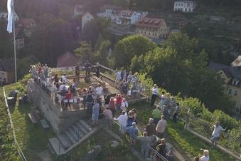 Burg Wehlen erstrahlt