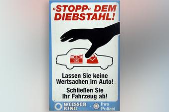 Schilder sollen vor Autoknackern warnen