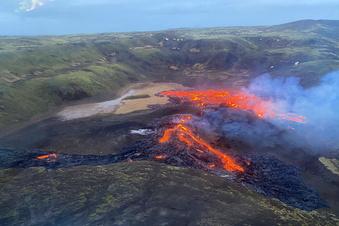 Vulkanausbruch nahe Islands Hauptstadt