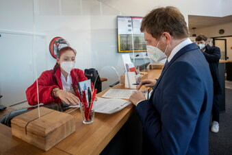 Ministerpräsident zum Test in Heidenau