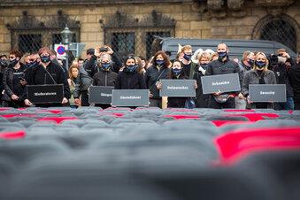 Demo auf dem Dresdner Theaterplatz