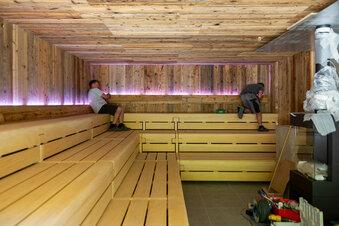 Neuschnee in der Sauna