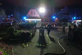 Drei Verletzte bei Brand in Einfamilienhaus