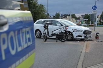 Schwerer Unfall auf Kesselsdorfer Straße in Dresden