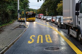 Auto vs. Bus: Wer ist schneller auf Dresdens Baustellenpiste?
