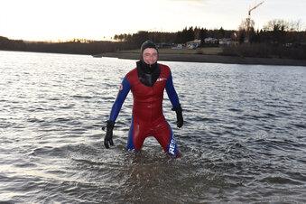 Der eiserne Schwimmer in der Talsperre