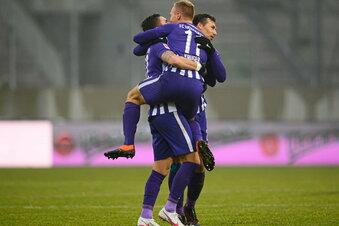 Aue dreht Partie gegen Braunschweig