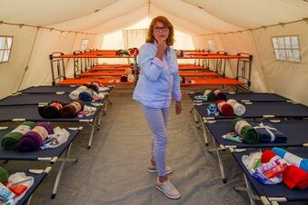 Fast 800 Flüchtlinge in der Dresdner Zeltstadt