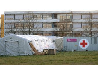 Zelt-Station in Meißen beginnt mit dem Testen