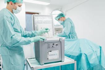 Verpackung für Impfdosen 'made in saxony'