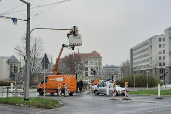 Radwege auf Dresdner Albertstraße fertig