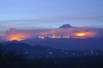 Kilimandscharo: Brand noch nicht gelöscht