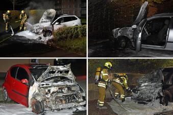 Und wieder brennen zwei Autos in Ebersbach