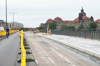 Carolabrücken-Fußweg bald frei