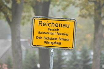 Straßensperrung in Reichenau