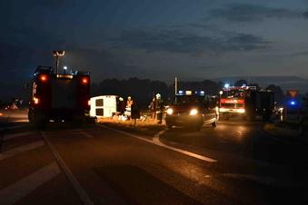 Schwerer Verkehrsunfall auf B178