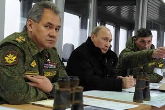 Russische Kriegsschiffe unterwegs
