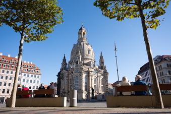 Christstollen reifen in Glockenturm der Frauenkirche