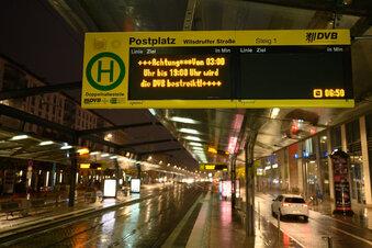 DVB-Streik: Stau und Fußmärsche in Dresden