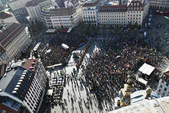 So lief der Demo-Tag in Dresden
