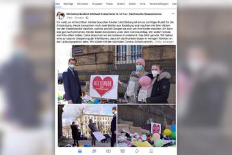 Radeburger Mütter besuchen MP Kretschmer