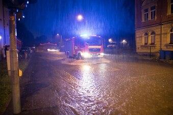 Starkes Gewitter verursacht Überflutungen