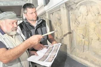 Reliefplatten am Wendelstein der Albrechtsburg bald fertig