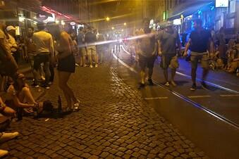 Mehr Polizei in der Dresdner Neustadt