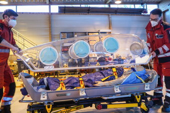 Hubschrauber wird zur Corona-Isolierstation