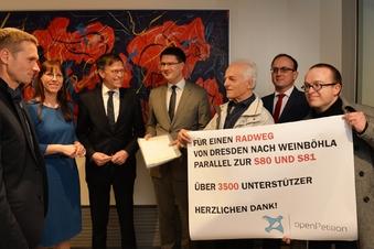 Petition für Radweg an S 80/81 übergeben