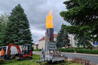 Abfackeln nach Gas-Havarie in Hartha