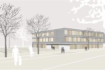 Schlichtes Schulhaus mit Platz und Licht