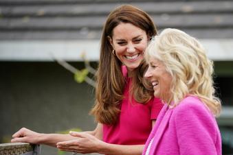 Herzogin Kate besucht Schule mit Jill Biden