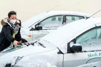 Pflegedienste kämpfen sich durch den Schnee