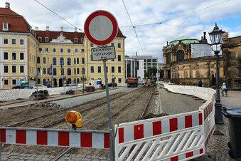 Sophienstraße in Dresden gesperrt