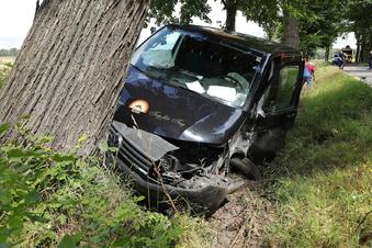 Schwerer Unfall am Schäferteich in Schönfeld