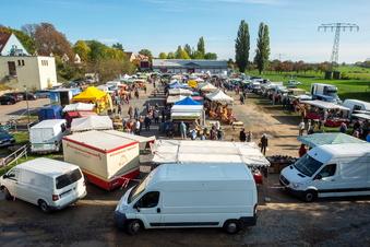 Bauernmarkt auf der Festwiese in Altkötzschenbroda