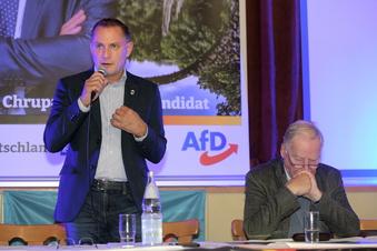 Für den AfD-Chef steht im Kreis Görlitz viel auf dem Spiel