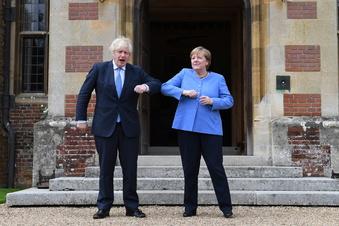 Merkel und Johnson in vielem uneinig